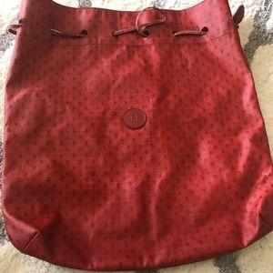 Authentic Fendi Red bucket bag